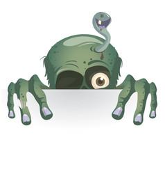 stickers peeking monster vector image