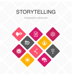 Storytelling infographic 10 option color design vector