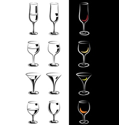 Stylized glasses vector