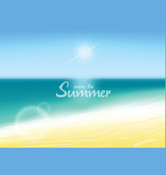 summer background blurred beach with enjoy the vector image