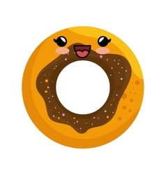 Sweet donut character icon vector