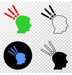 test head eps icon with contour version vector image