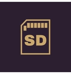 The sd card icon Transfer and connection data vector