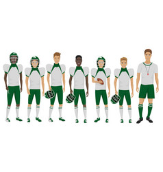 the young american football vector image