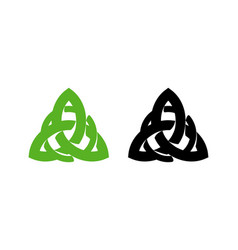 triquetra wiccan pagan symbol from charmed vector image