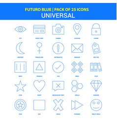 universal icons - futuro blue 25 icon pack vector image