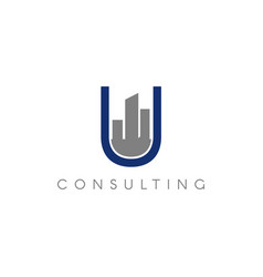 urban realty consulting logo symbol vector image