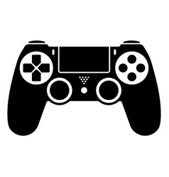 Video game ps4 controller gamepad flat icons vector