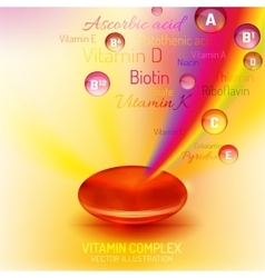 Vitamin Complex Capsule vector