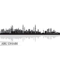 Abu Dhabi city skyline silhouette background vector image vector image