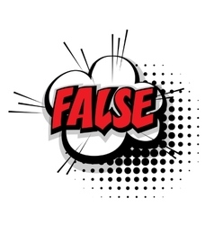 Comic text false pop art bubble vector image vector image