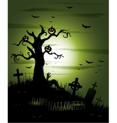 Greeny Halloween background vector image vector image
