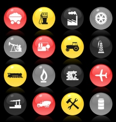industrial buttons vector image vector image