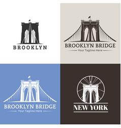 new york brooklyn bridge vector image vector image