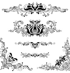 Retro floral patterns vector image