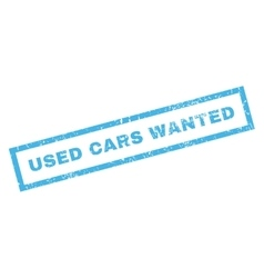 Used Cars Wanted Rubber Stamp vector image