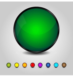 Colorful glossy round buttons vector image vector image