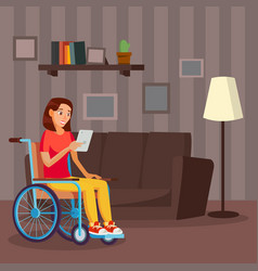 disabled woman living with disability vector image