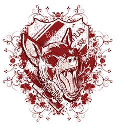 grunge t-shirt design with chihuahua vector image
