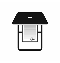 Scanner icon in simple style vector image vector image