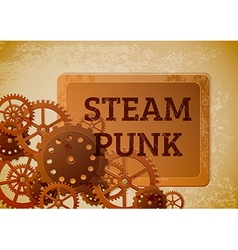 Steampunk banner vector image vector image