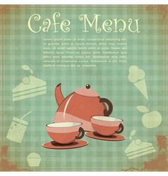 Vintage Cover Cafe Menu vector image