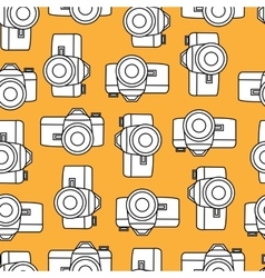 color retro seamless photo camera with vector image