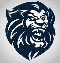 lion head logo 10092016 vector image vector image
