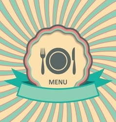 Menu retro label vector image