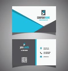 Modern business card design 0906 vector image