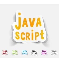 Realistic design element java script vector
