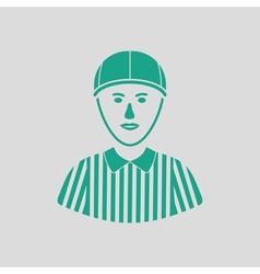 American football referee icon vector