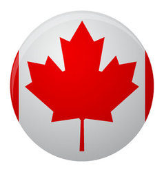 Canada flag icon flat vector image vector image