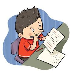 Doing Homework vector image