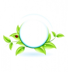green ecology vector image