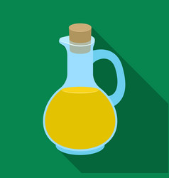 pitcher with olive oilolives single icon in flat vector image