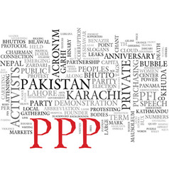 Ppp word cloud concept vector