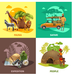 safari design icon set vector image