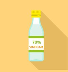 70 percent vinegar icon flat style vector
