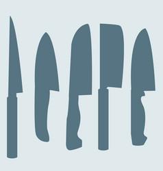 A set knives vector