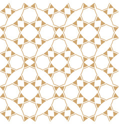 Abstract geometric ethnic patterngold and white vector