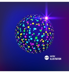abstract glitterball vector image