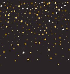 Abstract pattern of random falling gold stars on vector