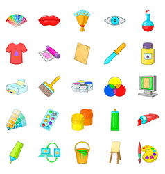 Artisan icons set cartoon style vector