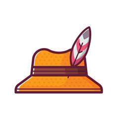 Birdwatcher straw hat icon vector
