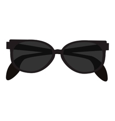 black sunglasses icon vector image