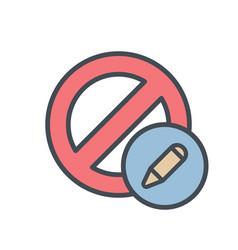 Block cancel edit lock stop icon vector