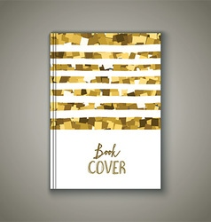 Book cover with glittery design vector