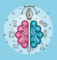 Brain think idea power design concept vector
