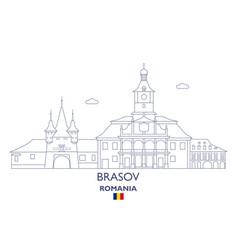 Brasov city skyline vector